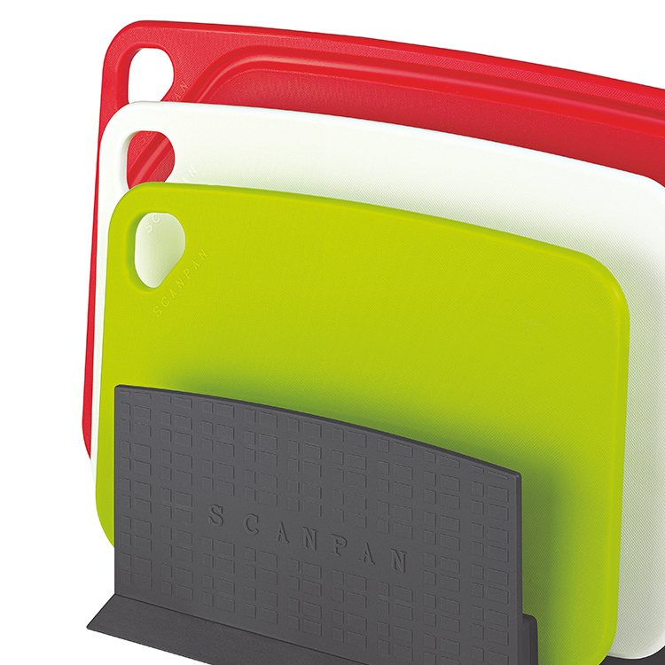 Scanpan Cutting Board with Stand 4 Piece Set
