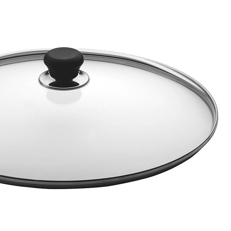 Scanpan Glass Lid with Silver Rim 18cm