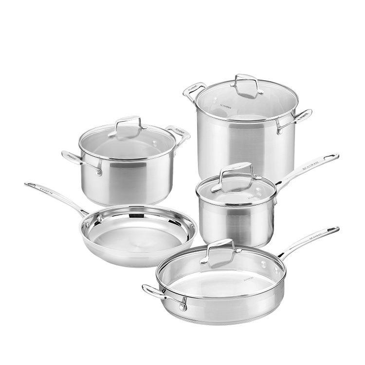 Scanpan Impact 5pc Set w/ Saucepan, Dutch Oven, Frypan, Stockpot & Saute Pan