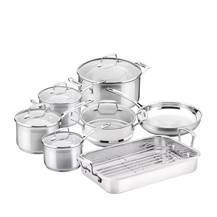 Scanpan Impact 6pc Cookware Set with Bonus Roaster