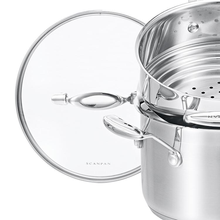 Scanpan Impact 2pc Saucepan & Multi Steamer Set