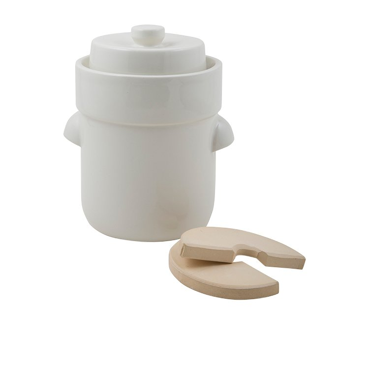 Schmitt Fermentation Crock 3L White