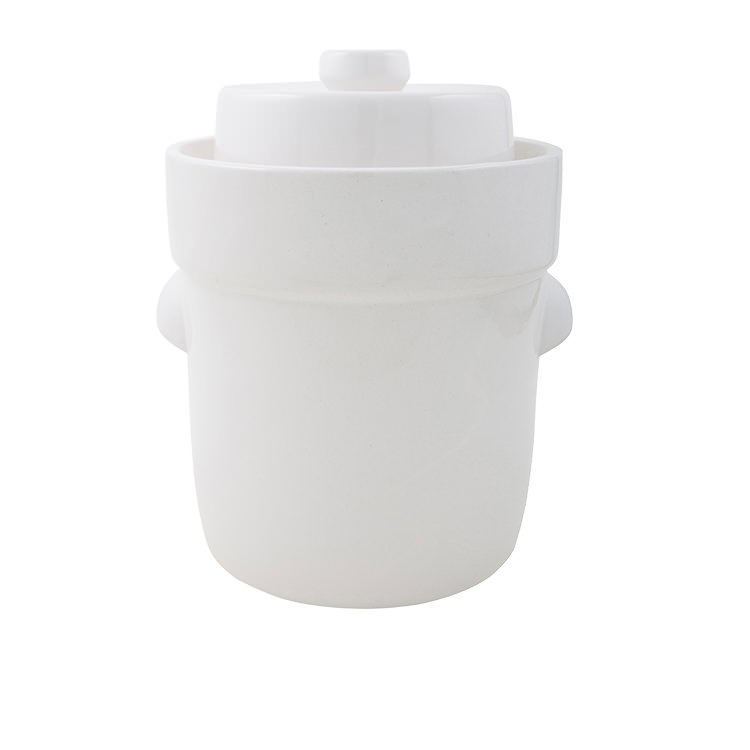 Schmitt Fermentation Crock 5L White