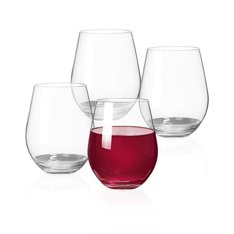 Serroni 4pc Stemless Red Wine Glass Set 600ml