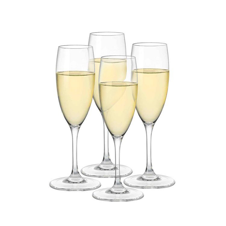Serroni Fresco Unbreakable Champagne Flute Set of 4