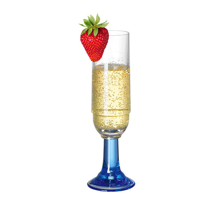 Serroni Venetian Blue Champagne  Glass 220ml