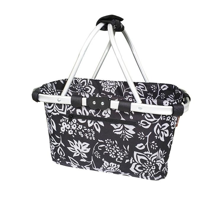Sachi Carry Basket Double Handle Camellia Black