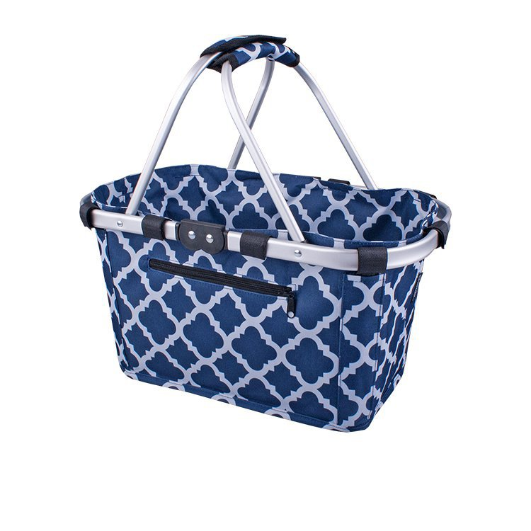 Sachi Carry Basket Double Handle Moroccan Navy