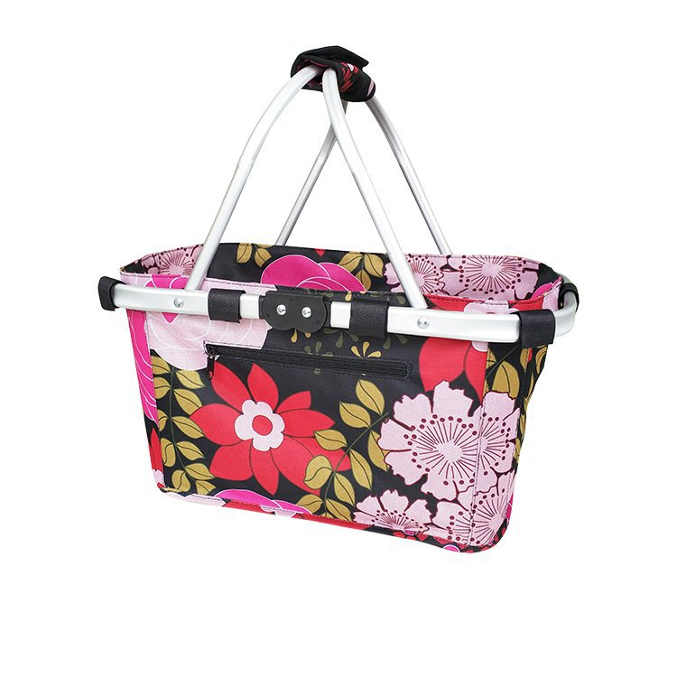 Sachi Carry Basket Double Handle Floral Blooms