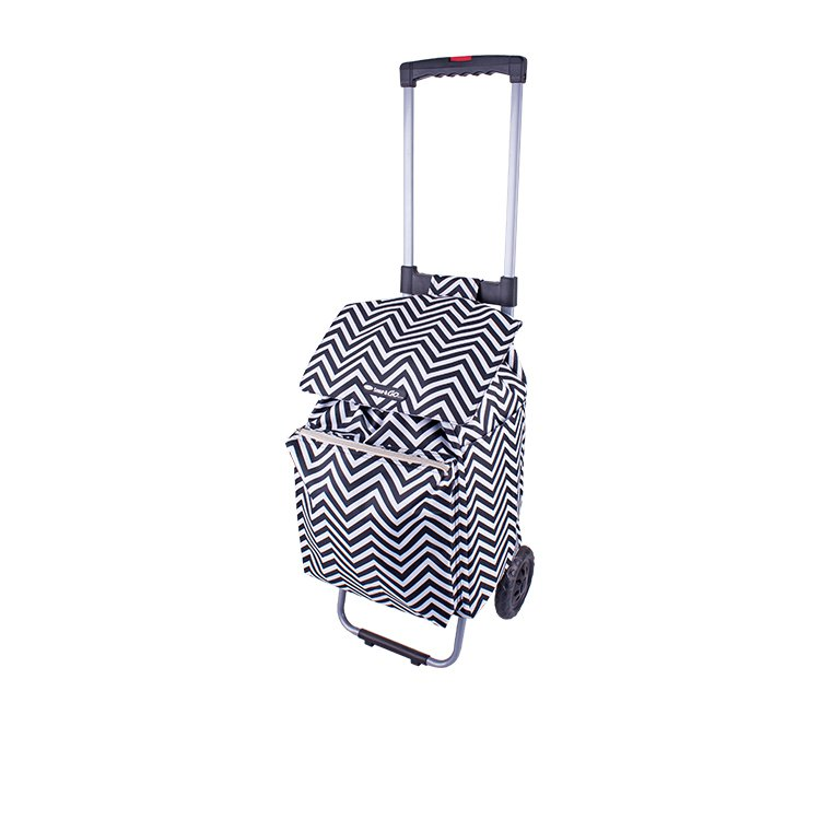 Shop & Go Polo Shopping Trolley w/ Retractable Handle Chevron