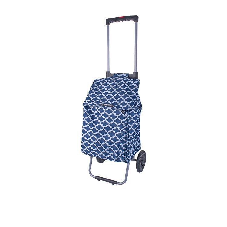 Shop & Go Polo Shopping Trolley w/ Retractable Handle Moroccan Navy