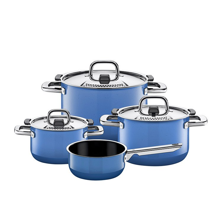 Silit 4pc Cookware Set Nature Blue