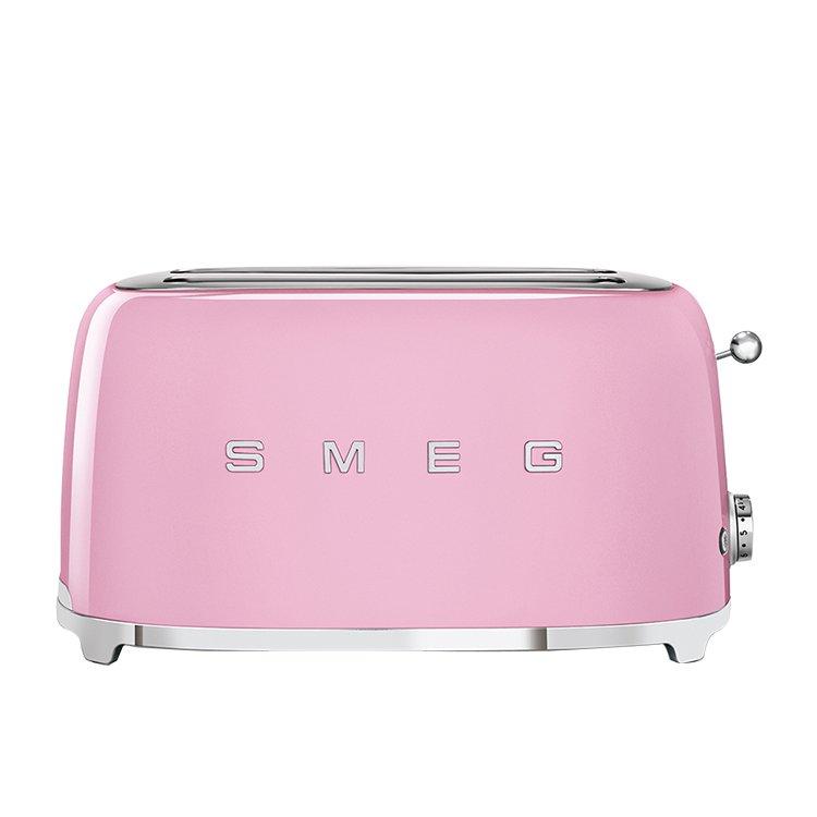 Smeg 50's Retro Style 4 Slice Toaster Pastel Pink