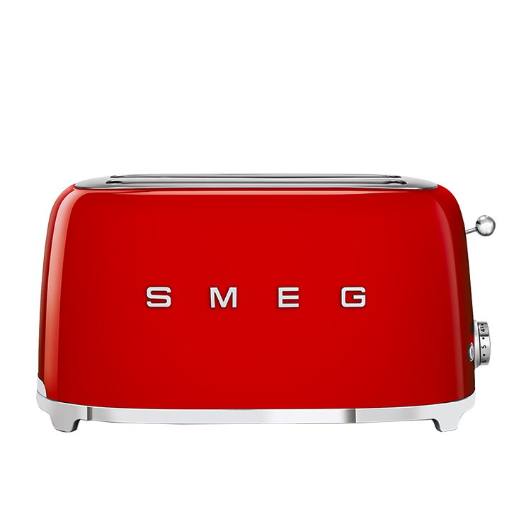 Smeg 4 Slice Toaster Red