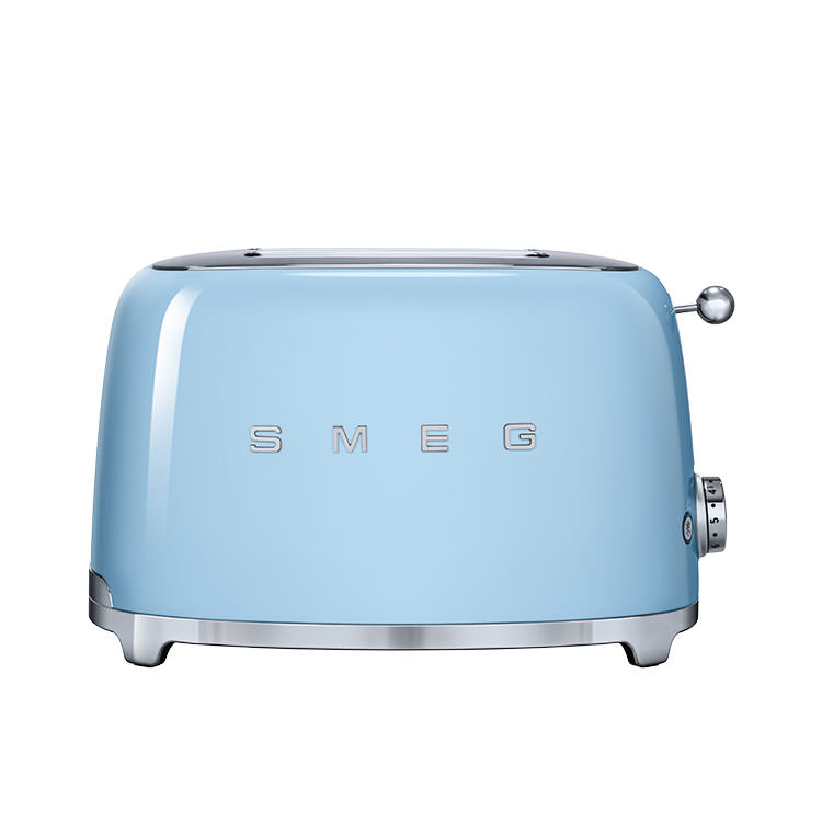 Smeg 50's Retro Style 2 Slice Toaster Pastel Blue