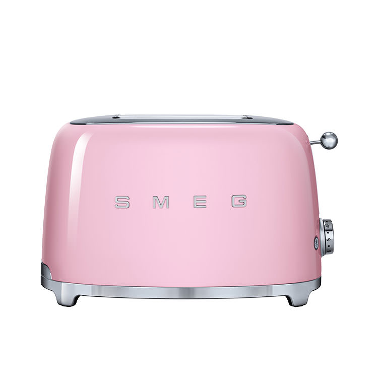 Smeg 50's Retro Style 2 Slice Toaster Pastel Pink