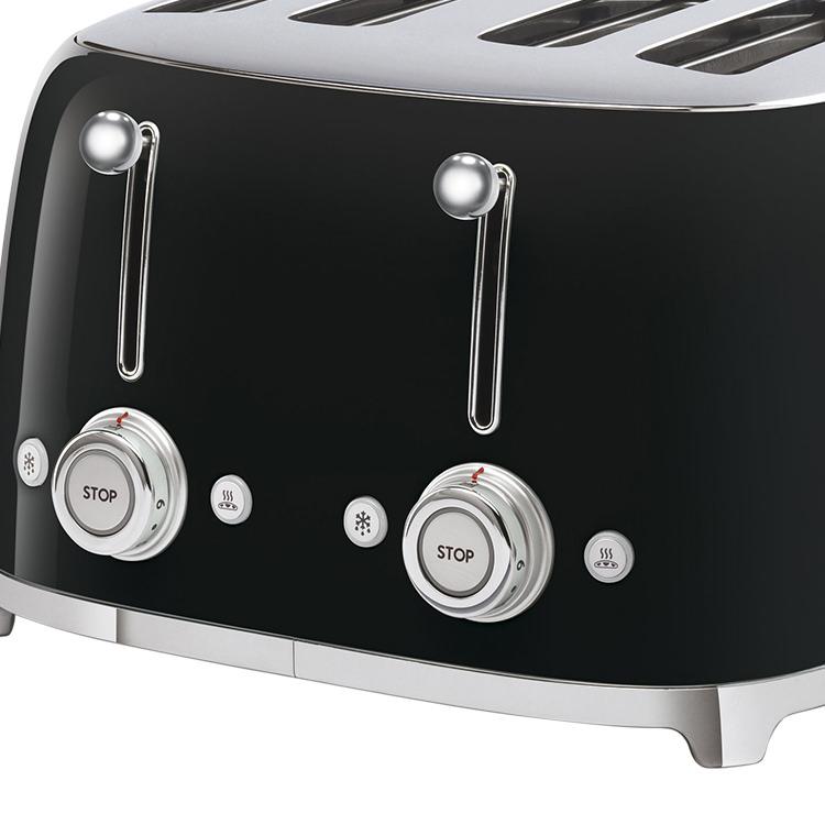 Smeg 50's Retro Style 4 Slot Toaster Black image #4