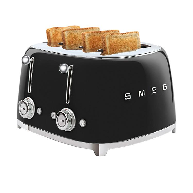 Smeg 50's Retro Style 4 Slot Toaster Black