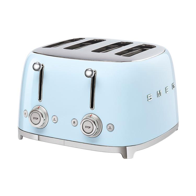 Smeg 50's Retro Style 4 Slot Toaster Pastel Blue