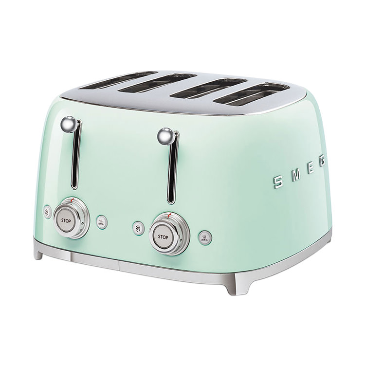 Smeg 50's Retro Style 4 Slot Toaster Pastel Green