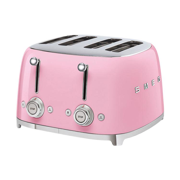 Smeg 50's Retro Style 4 Slot Toaster Pink