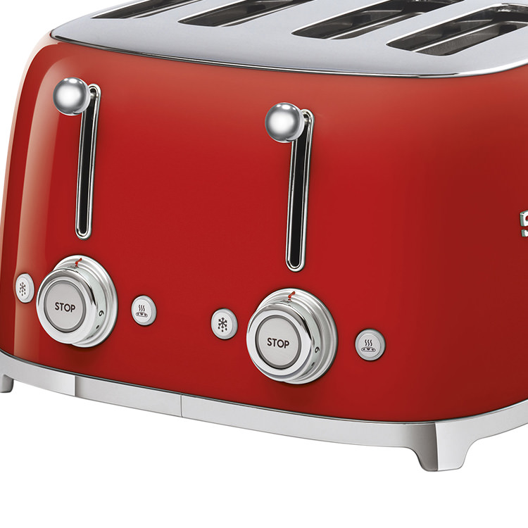 Smeg 50's Retro Style 4 Slot Toaster Red