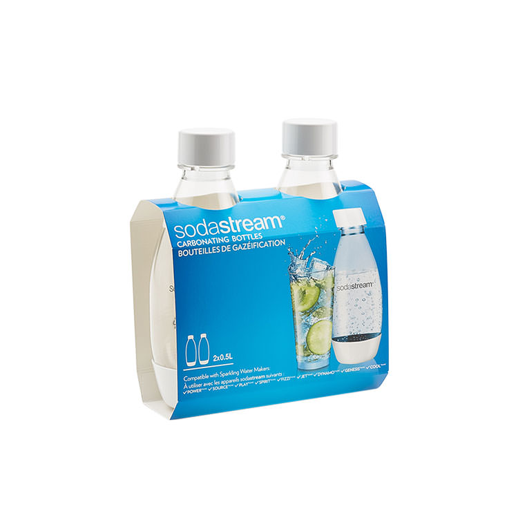 SodaStream Fuse 500ml Bottles Twin Pack White
