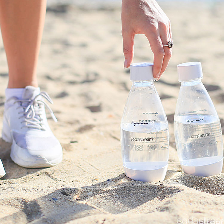 SodaStream Fuse 500ml Bottles Twin Pack White