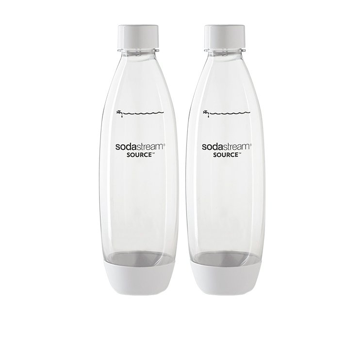 SodaStream Fuse for Carbonating Bottles 1L Twin Pack White