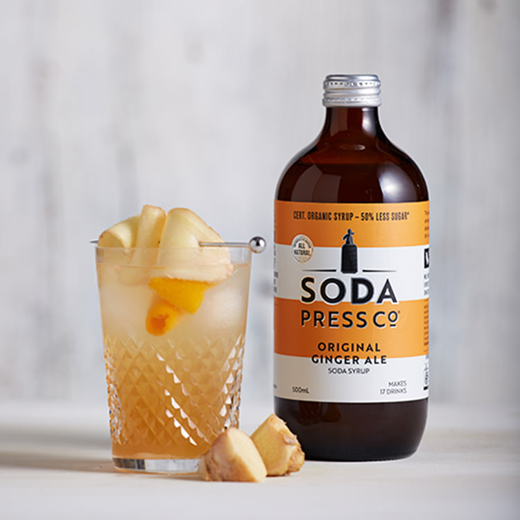 SodaStream Soda Press Co Organic Soda Syrup Ginger Ale