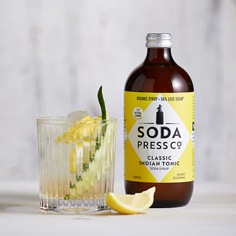 SodaStream Soda Press Co Organic Soda Syrup Indian Tonic
