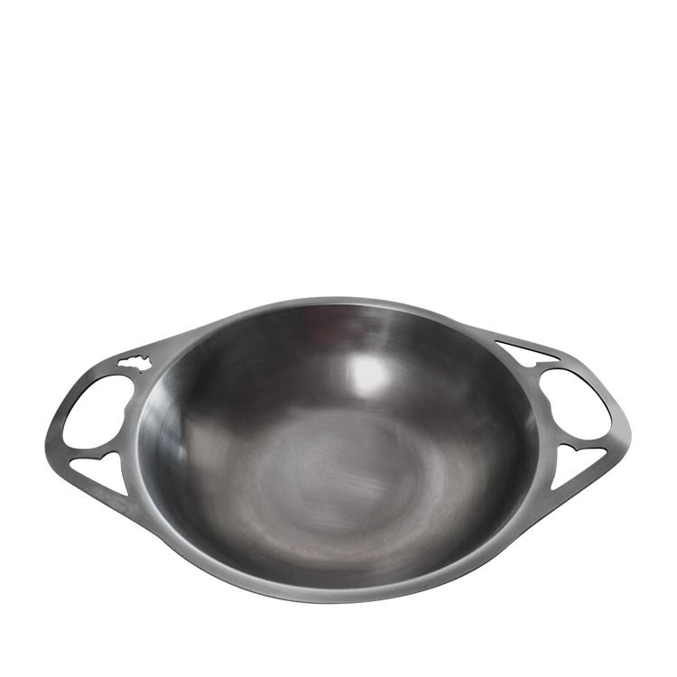 SOLIDTEKNICS Australian Made AUS-ION Formed Iron Wok 30cm