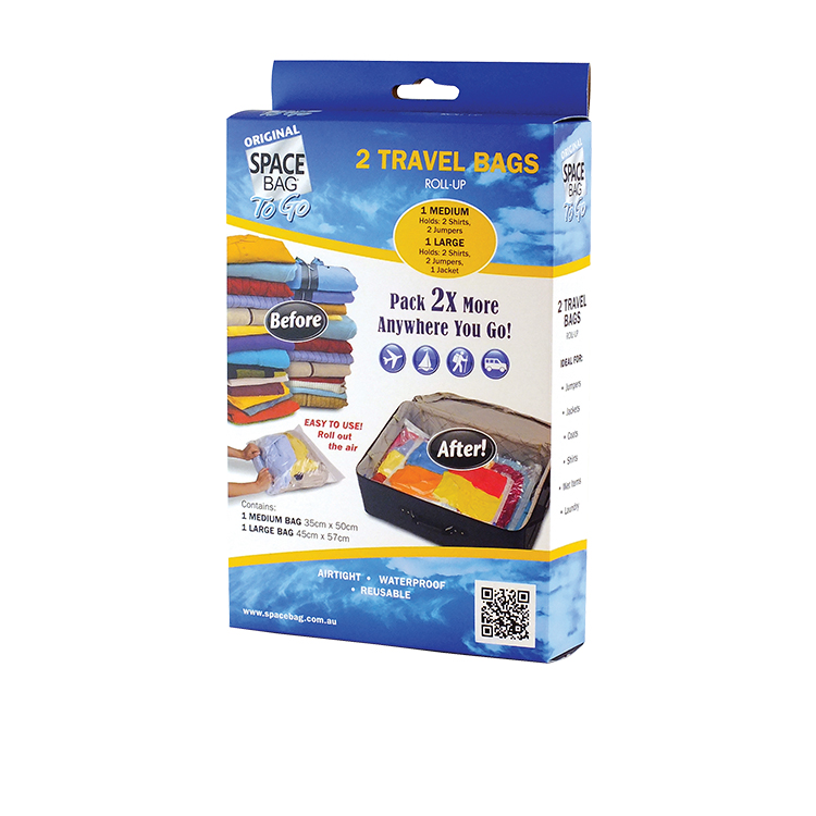 Space Bag Vacuum Storage Bag Travel Pack of 2
