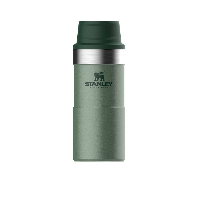 Stanley Classic Trigger Action Travel Mug 350ml Hammertone Green