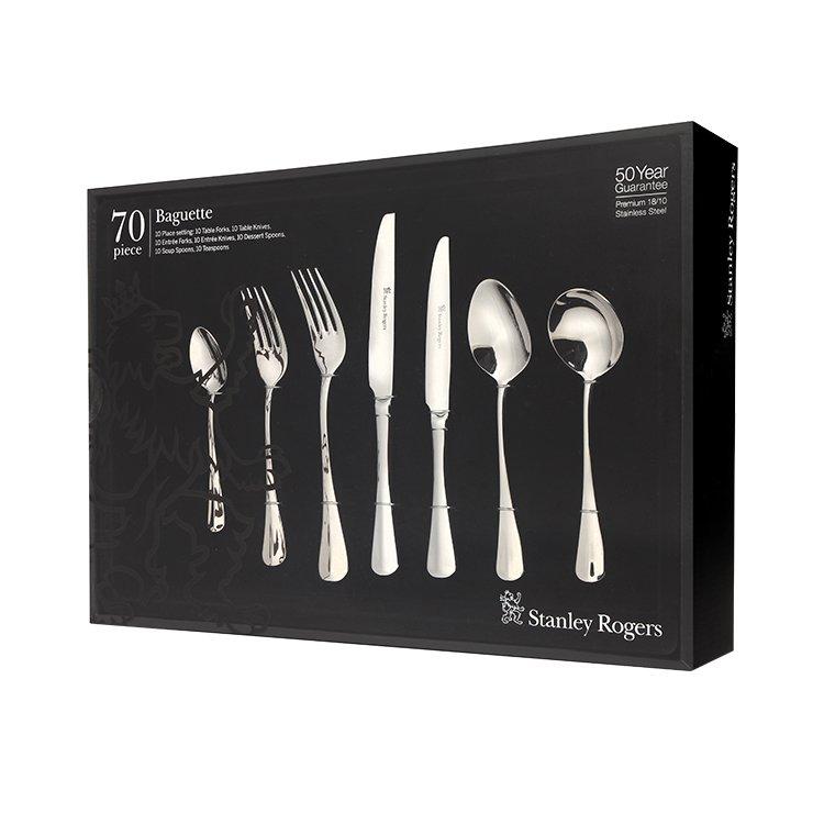 Stanley Rogers Baguette Cutlery Set 70pc