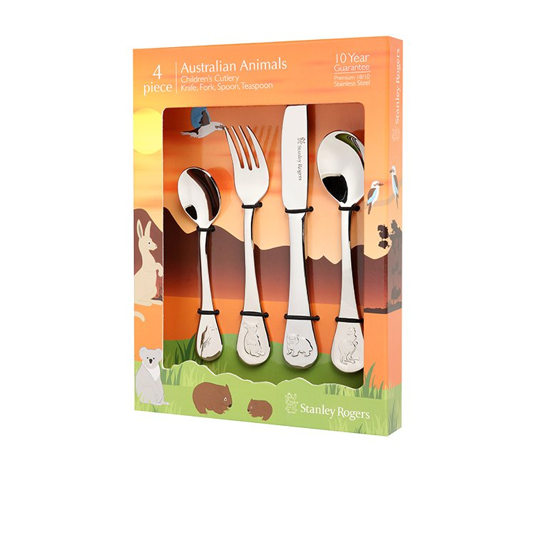 Stanley Rogers Children's Cutlery Set 4pc Australian Animals