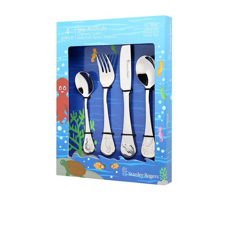 Stanley Rogers Children's Cutlery Set 4pc Sea Animals
