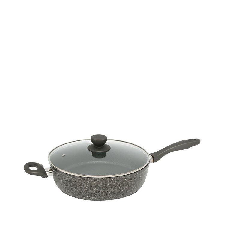 Stanley Rogers Quartz Stone Advanced Saute Pan with Lid 28cm