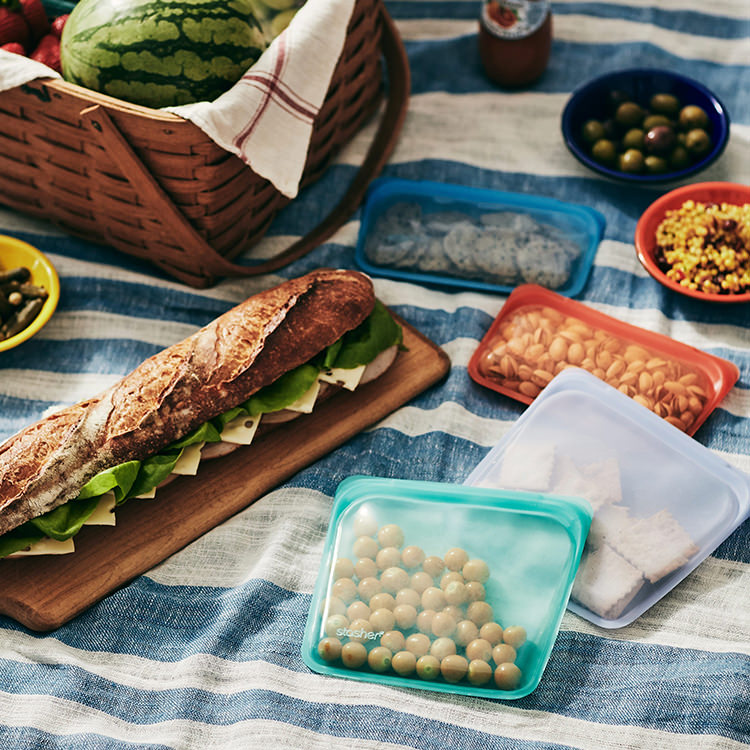 Stasher Reusable Sandwich Bag 19x19cm Aqua