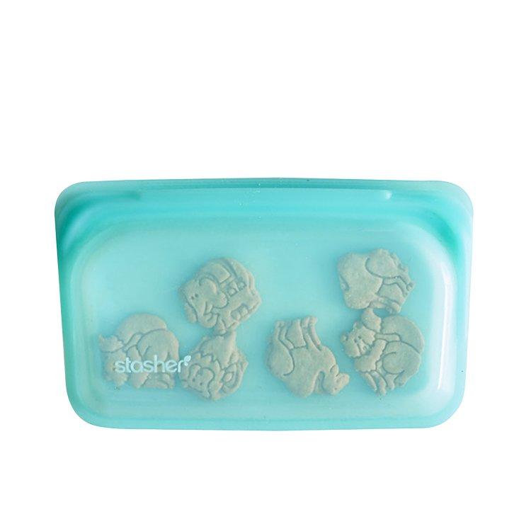 Stasher Reusable Snack Bag 11.5x19cm Aqua image #2