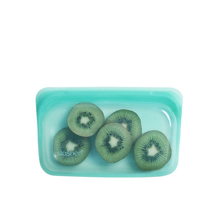 Stasher Reusable Snack Bag 11.5x19cm Aqua image #3