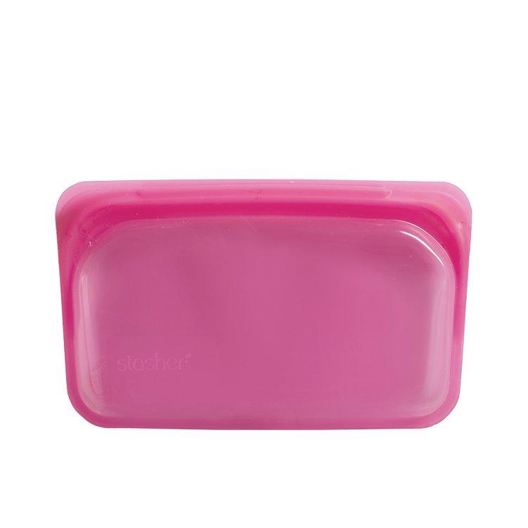 Stasher Reusable Snack Bag 11.5x19cm Raspberry