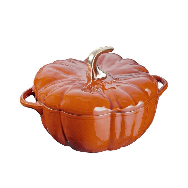 Staub Enamelled Cast Iron Pumpkin Cocotte 24cm