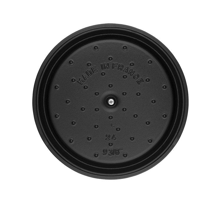 Staub Enamelled Cast Iron Round Cocotte 24cm Black