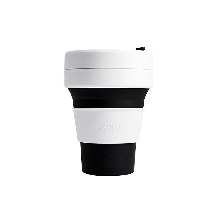 Stojo Pocket Travel Cup 355ml Black