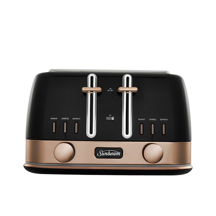 Sunbeam New York Collection 4 Slice Toaster Black Bronze
