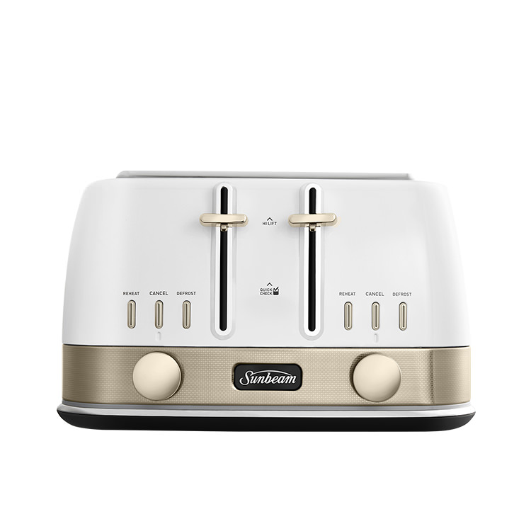 Sunbeam New York Collection 4 Slice Toaster White Gold