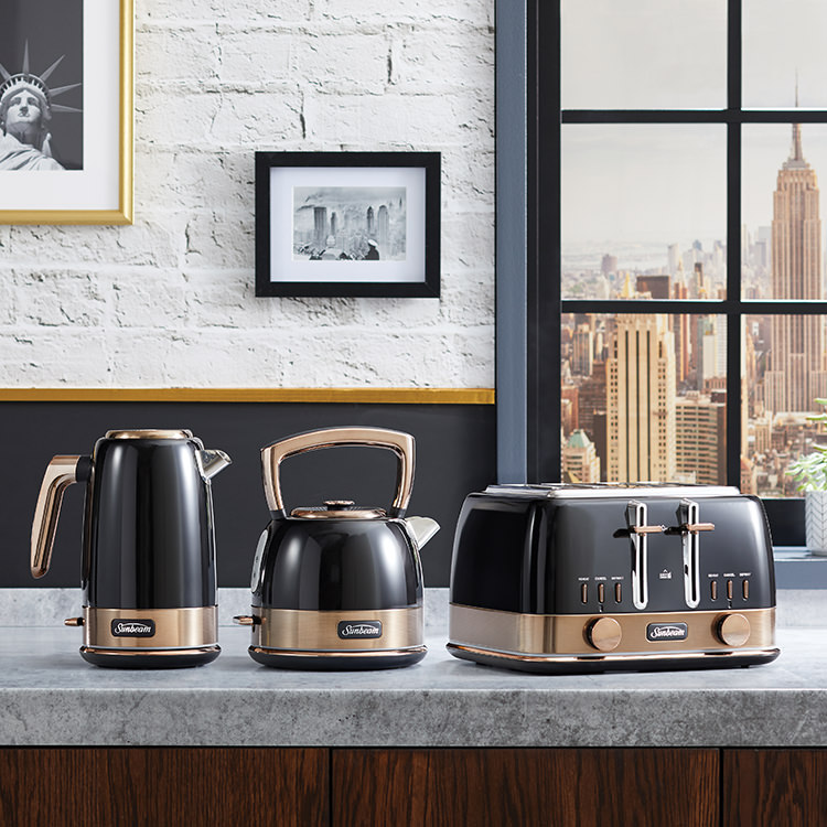 Sunbeam New York Collection 4 Slice Toaster Black Bronze