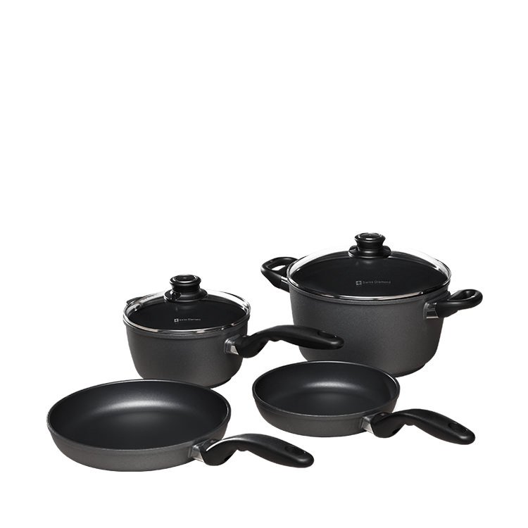 Swiss Diamond 6pc Cookware Set