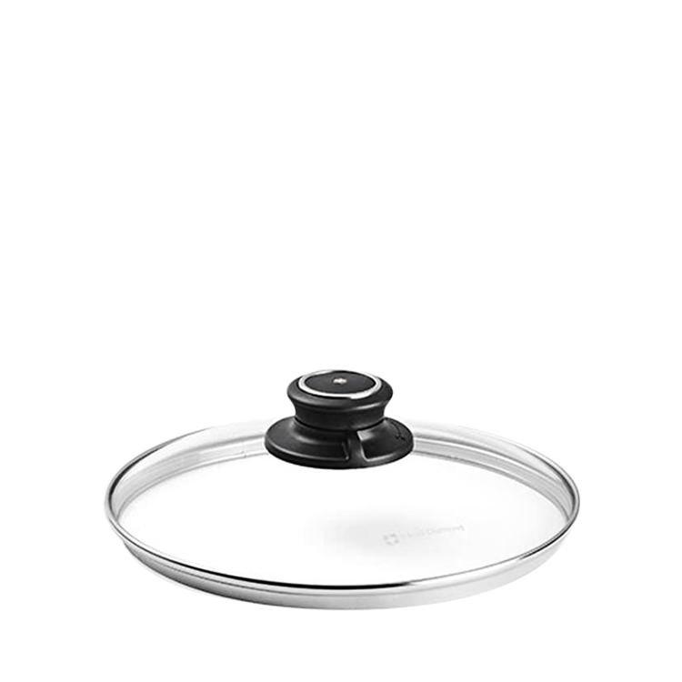 Swiss Diamond Round Tempered Glass Lid w/ Vented Knob 20cm